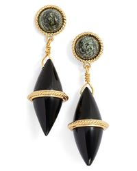 Rachel Zoe | Metallic 'leyla' Stone Drop Earrings | Lyst