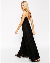 ASOS | Black Pleated Cami Maxi Dress | Lyst