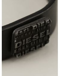 DIESEL | Black Belt With A Matching Bracelet for Men | Lyst