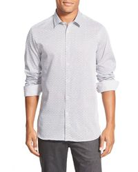 Ted Baker | White 'scatman' Print Extra Trim Fit Sport Shirt for Men | Lyst