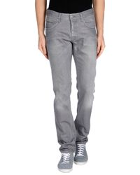 Care Label - Gray Denim Trousers for Men - Lyst