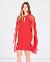 Parker - Red Bernadette Combo Dress - Lyst
