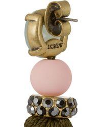 J.Crew | Green Gold-Tone Tassel Earrings | Lyst