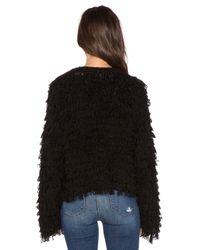 525 America - Black Crop Fringe Jacket - Lyst