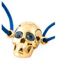 Leivan Kash | Blue Topaz Eyes Skull Bracelet | Lyst