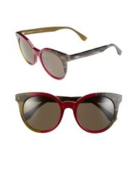 Fendi | Green 51mm Sunglasses | Lyst
