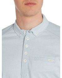 Duck and Cover | Blue Harmon Long Sleeve Polo Shirt for Men | Lyst