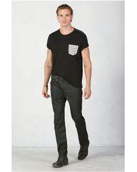 True Religion | Black Horseshoe Monogram Mens T-shirt for Men | Lyst
