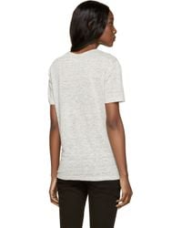 T By Alexander Wang | Gray Grey Linen Jersey T-shirt | Lyst