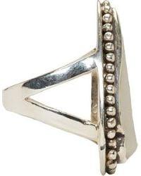 Pamela Love | Metallic Silver And Taupe Jasper Ring | Lyst