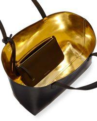 Mansur Gavriel - Black Vegetable-tanned Leather Large Tote Bag - Lyst