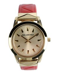 Karl Lagerfeld - Metallic Wrist Watch - Lyst