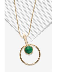 Nasty Gal | Green Camille Pendant Necklace | Lyst