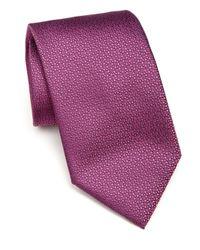 Charvet - Purple Micro Abstract Silk Tie for Men - Lyst