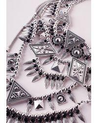 Missguided   Metallic Premium Multi Layered Statement Necklace   Lyst