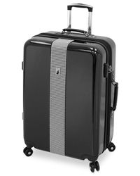 "London Fog | Black Cambridge 29"" Hardside Spinner Suitcase for Men 