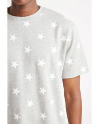 Forever 21 - Gray Star Print French Terry Tee for Men - Lyst