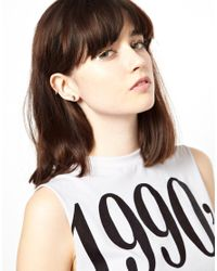 ASOS - Metallic Limited Edition Moon Star Earrings - Lyst