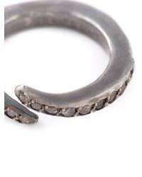 Rosa Maria - Metallic Curved Diamond Ring - Lyst