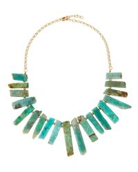 Panacea | Green Graduated Amazonite Bar Bib Necklace | Lyst