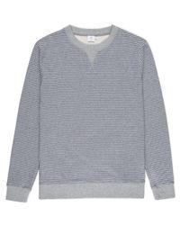 Sunspel | Gray Men's Loopback Cotton Sweatshirt With Printed Stripe for Men | Lyst