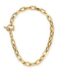 Michael Kors | Metallic Cityscape Link Toggle Necklace | Lyst