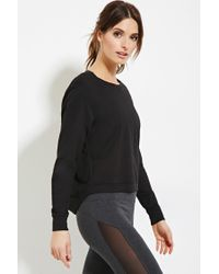Forever 21 - Black Active Cutout-back Pullover You've Been Added To The Waitlist - Lyst