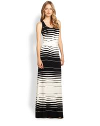 Young Fabulous & Broke - Black Hamptons Striped Stretch Jersey Maxi Dress - Lyst