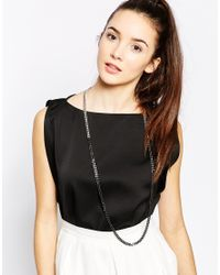 Karen Millen | Metallic Ombre Chain Necklace | Lyst