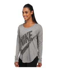 Nike | Gray Signal Long Sleeve Tee | Lyst