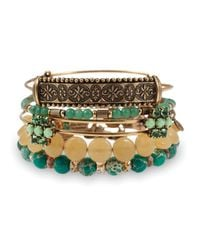 ALEX AND ANI | Green Sideshow Bangles Set Of 5 | Lyst