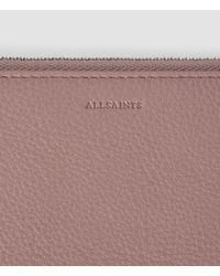 AllSaints | Brown Club Zip Around Wallet | Lyst
