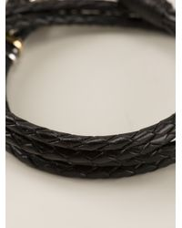 Paul Smith - Black Woven Bracelet for Men - Lyst