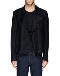 Ann Demeulemeester - Black Fleecewool-blend Biker Jacket for Men - Lyst