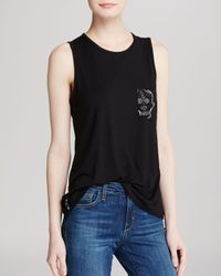 Umano - Black Tank - Muscle With The Skull - Lyst