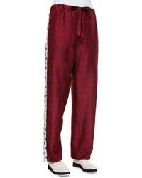 Rag & Bone - Purple Rudy Drawstring Printed Pants - Lyst