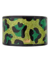 Nicholas King | Green Glitter Leopard Print Cuff | Lyst