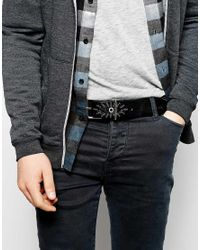 DIESEL - Black Bicchia Leather Belt for Men - Lyst