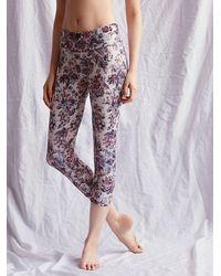 Free People | Purple Movement Capri Legging | Lyst