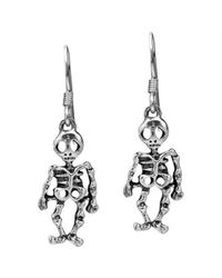 Aeravida | Metallic Halloween Skeleton .925 Silver Dangle Earrings | Lyst