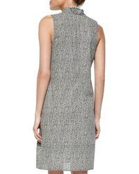 Eileen Fisher - Black Bandhini-print Halter Dress - Lyst