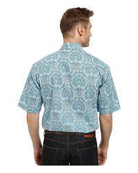 Stetson - Blue Modern Paisley Long Sleeve Snap Front Shirt for Men - Lyst