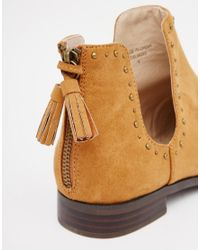 ASOS - Brown A Moment To Think Stud Tassel Ankle Boots - Lyst