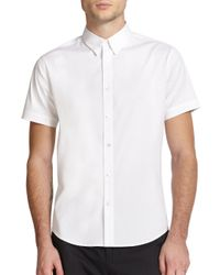 Theory - White Coppolo Stretch Cotton Sportshirt for Men - Lyst