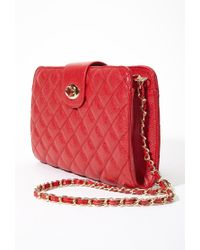 Forever 21 | Red Quilted Faux Leather Convertible Bag You've Been Added To The Waitlist | Lyst