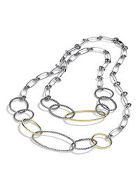 David Yurman - Metallic Mobile Link Necklace With Gold - Lyst
