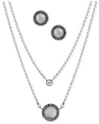 Lucky Brand | Metallic Silver-tone Crystal And Stone Jewelry Set | Lyst
