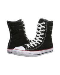 Converse - Black Chuck Taylor® All Star® Hi-rise Fundamental Canvas X-hi - Lyst