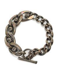 Tobias Wistisen | Metallic Skull Chain Bracelet for Men | Lyst