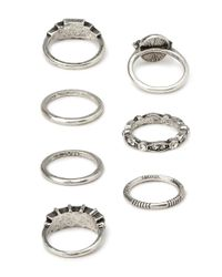 Forever 21 - Metallic Essential Faux Stone Rings - Lyst